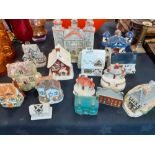 COLLECTION OF 15 STAFFORDSHIRE COTTAGES