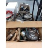 3 BOXES OF SILVER PLATED ITEMS