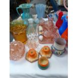 COLLECTION OF ART DECO POTTERY & GLASS