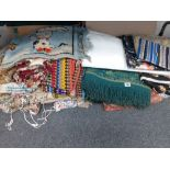 COLLECTION OF VINTAGE MATERIAL, THROWS