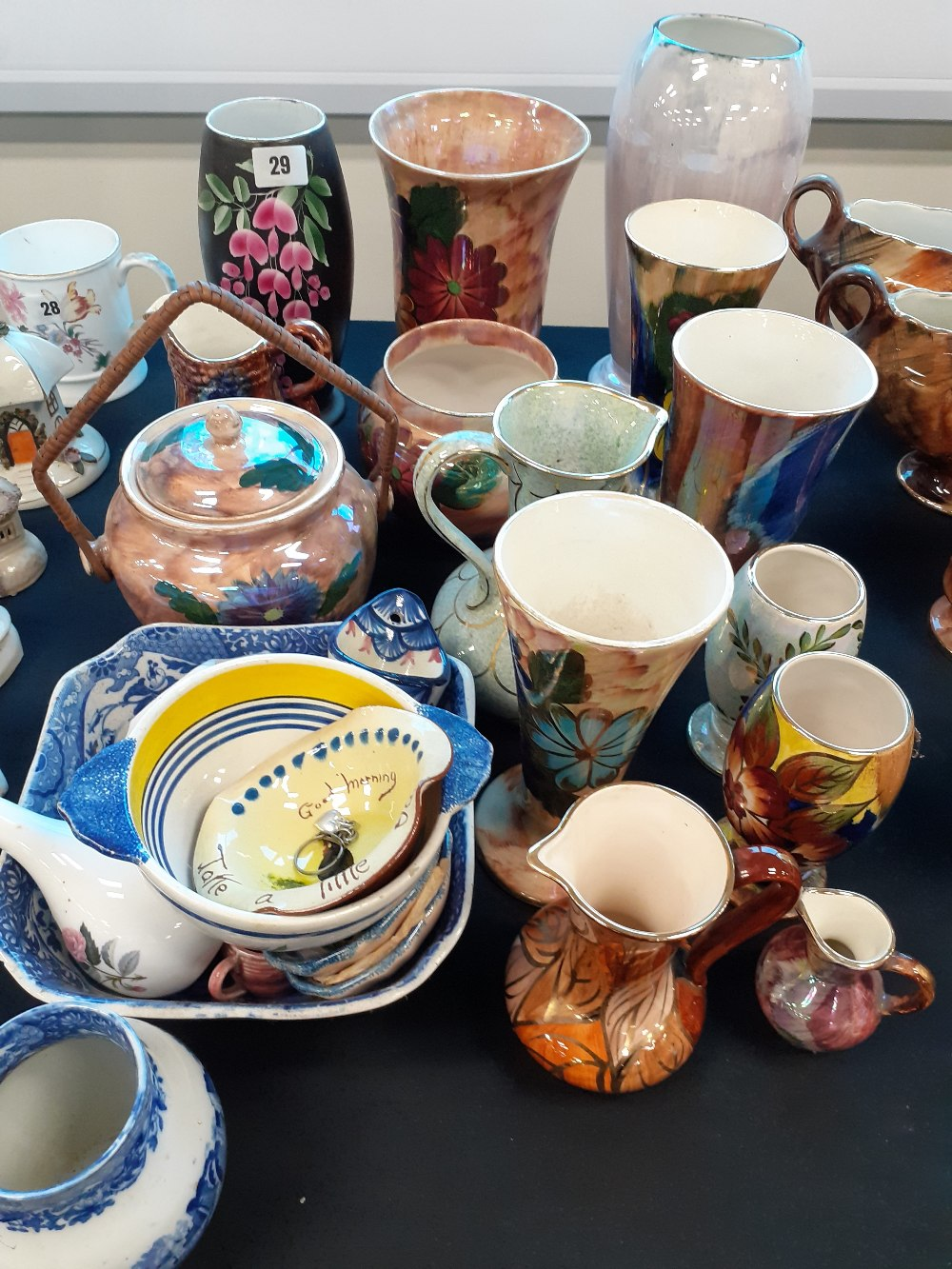 COLLECTION OF LUSTRE POTTERY
