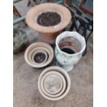 TERACOTTA PLANTER, OTHER PLANTERS