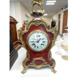 LATE 19C FRENCH MANTLE CLOCK