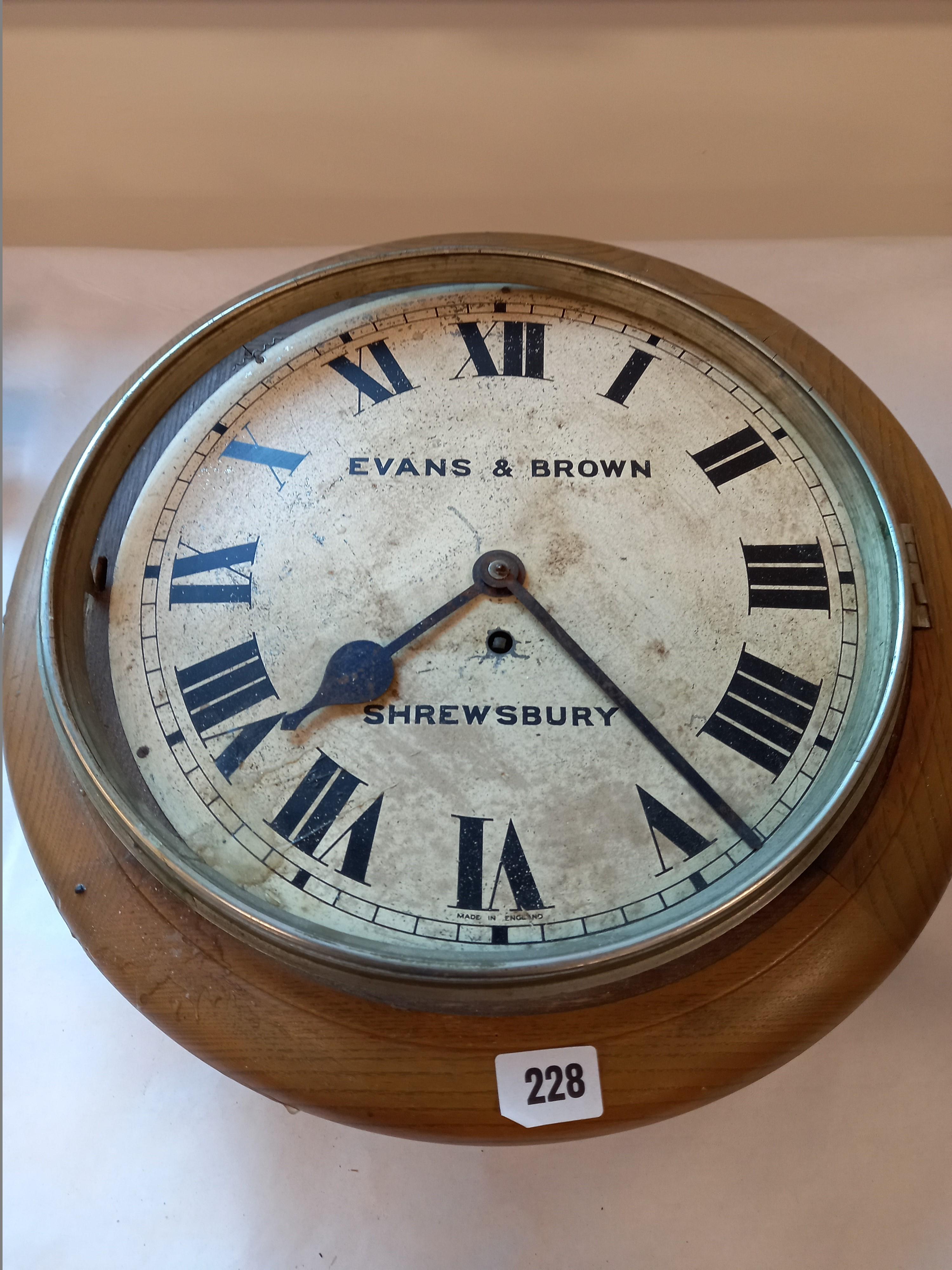 EVANS AND BROWN SHREWSBURY STATION CLOCK
