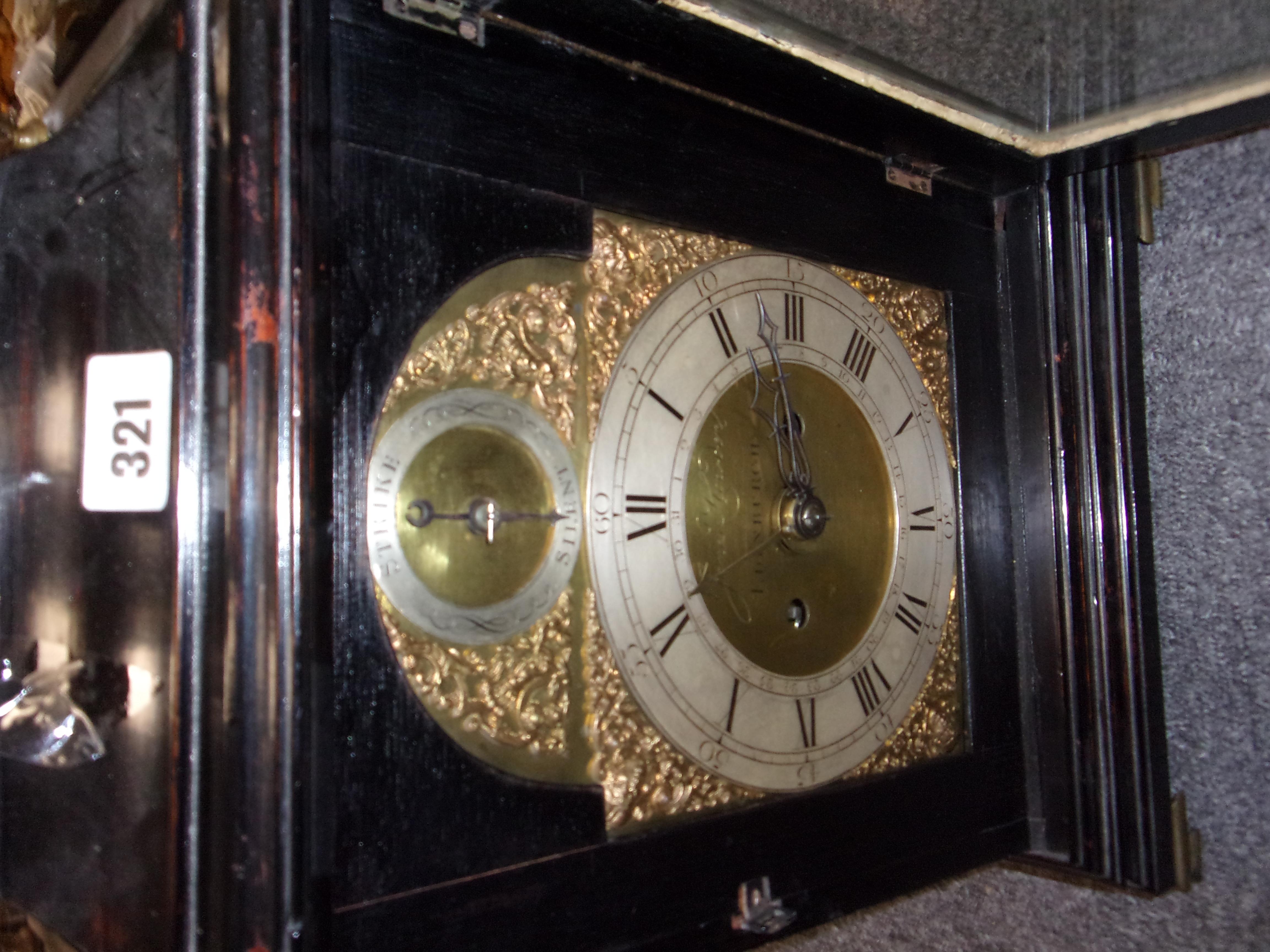 LATE 18C BRACKET CLOCK - Image 4 of 11