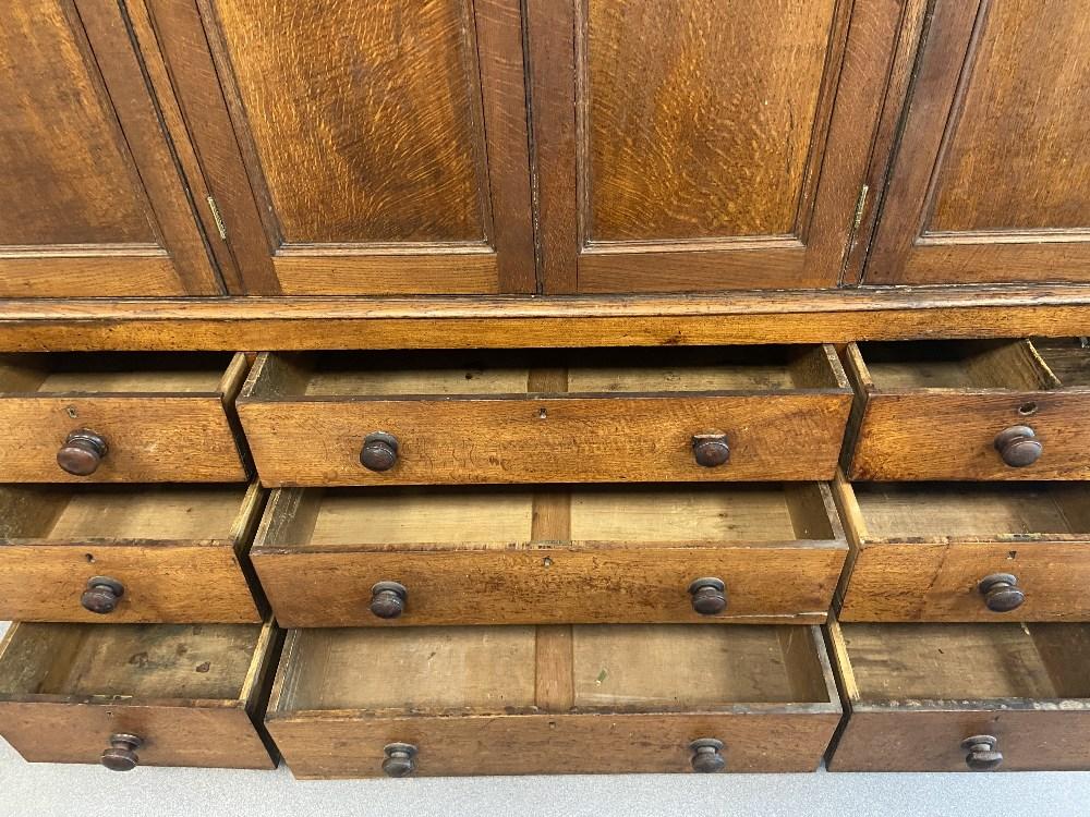LATE 18C OAK 4 DOOR CUPBOARD - Image 5 of 5