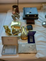 QUANTITY OF CUTLERY IN BOXES, BRASSWARE