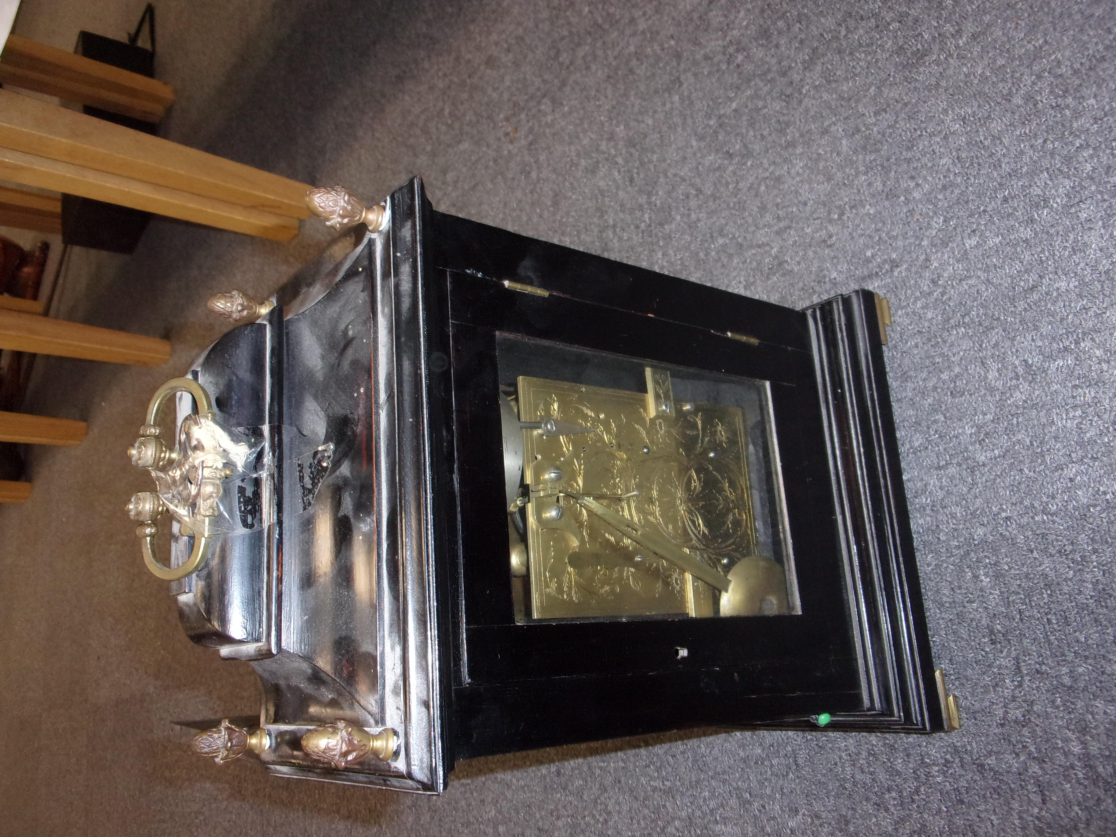 LATE 18C BRACKET CLOCK - Image 5 of 11