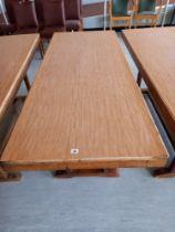 "A modern Side Table 72"" x 29"" x 29"" high"