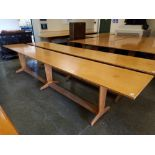 """A large oak refectory table 24"""" x 148""""x30"""" high"""