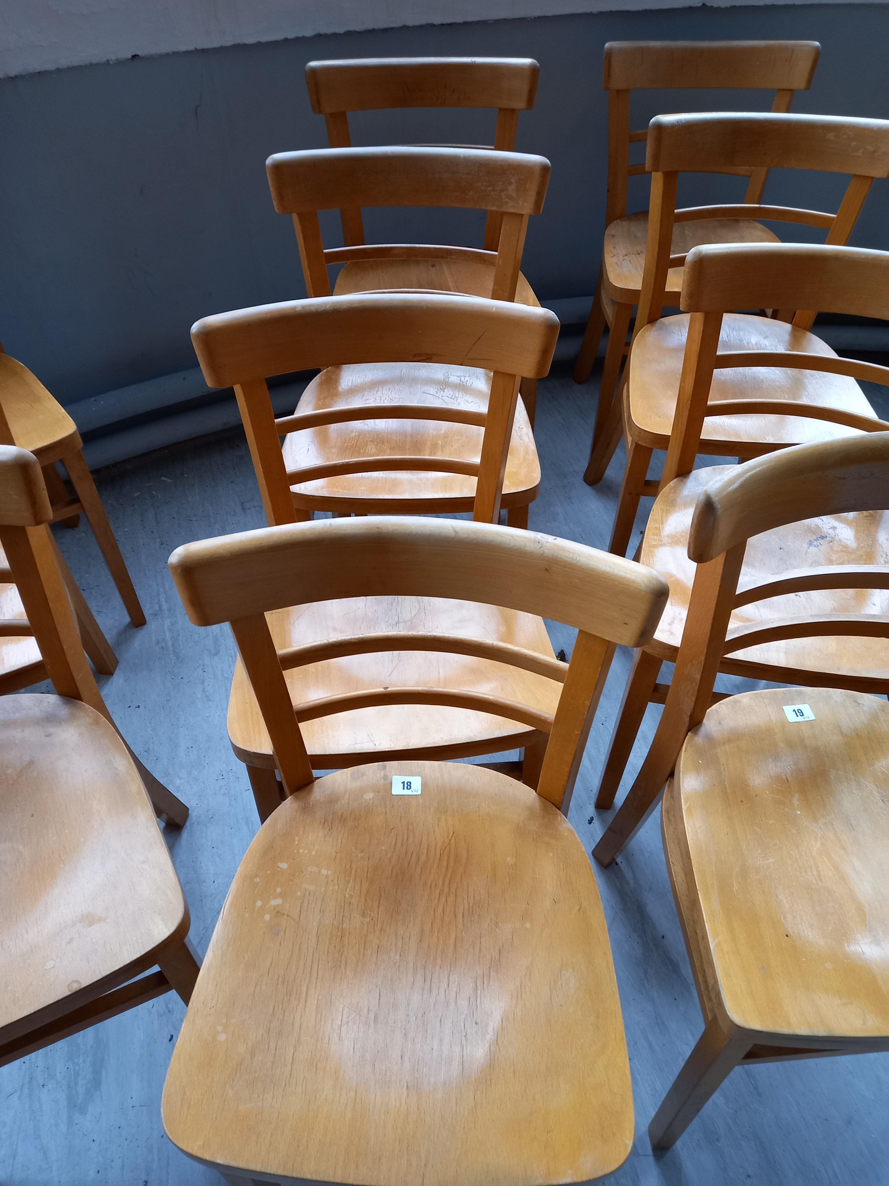 Four Beech Chairs