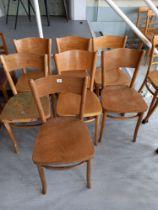 Seven Beech chairs