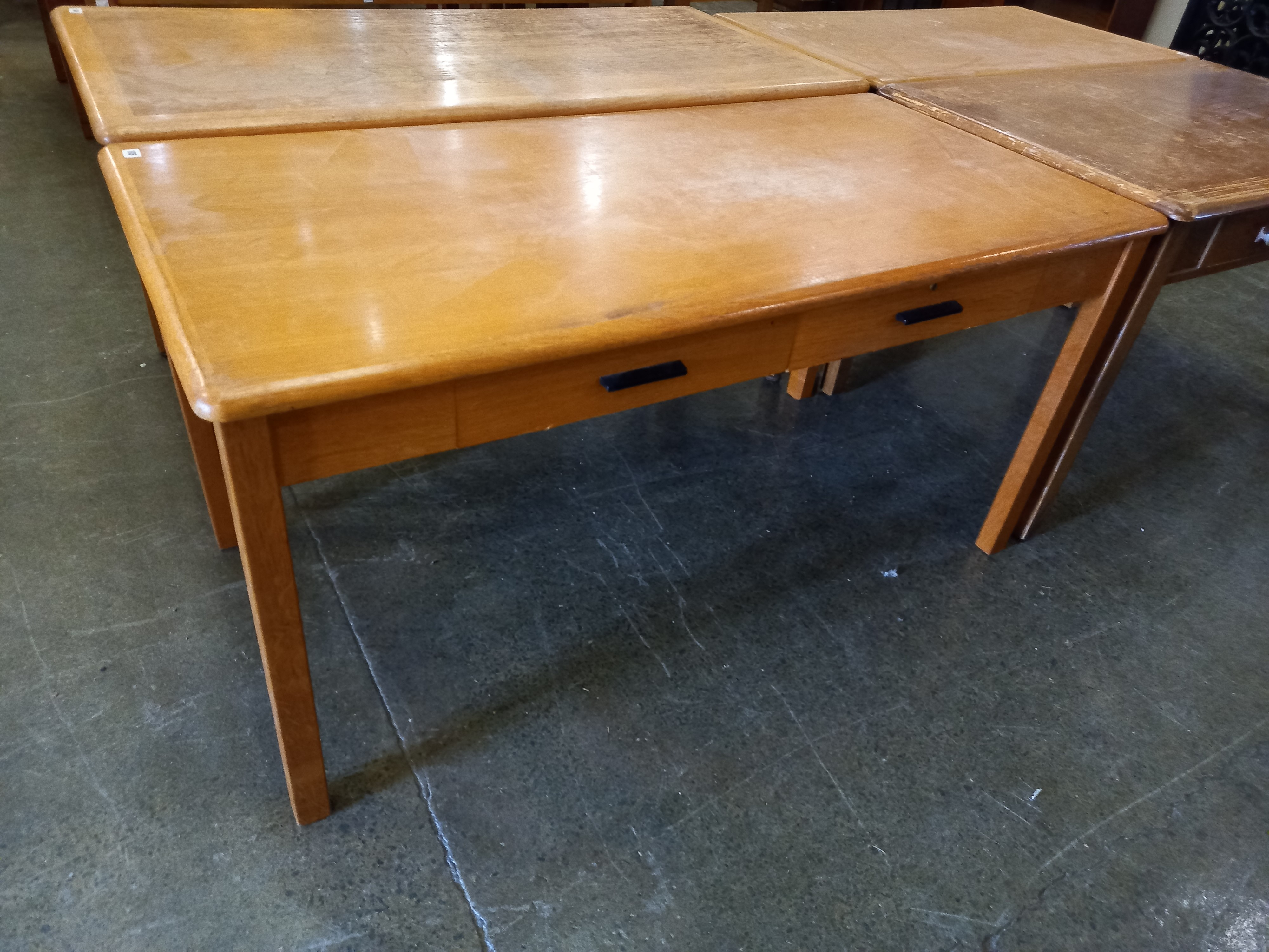 """An Oak desk with two drawers 30""""x60"""" x30"""" high"""