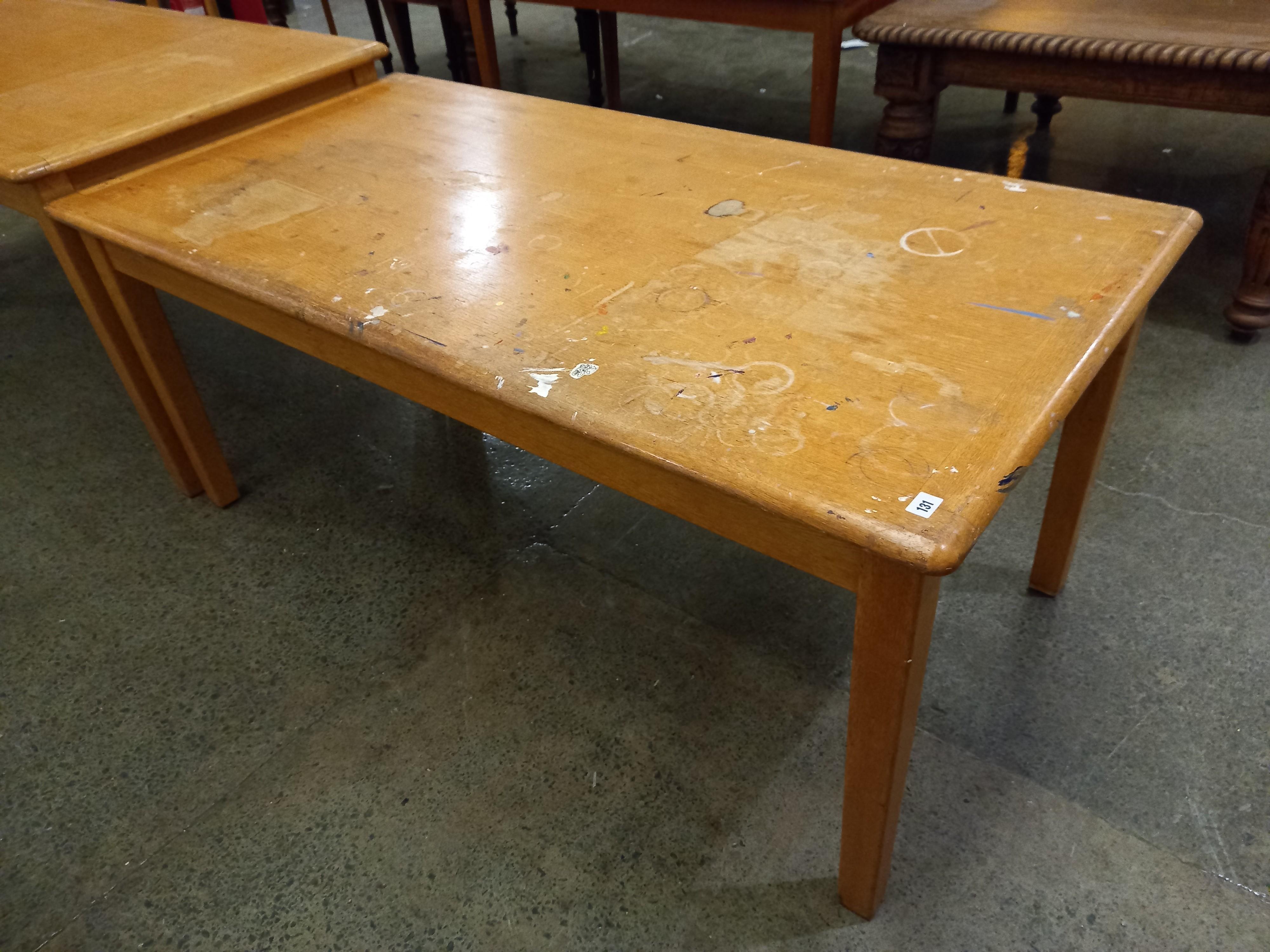 """An Oak worktable 30"""" x 66"""" x 29"""" high"""