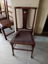 An Edwardian Beech Arts and crafts Chair