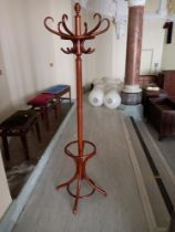 """A reproduction bentwood coat stand 73"""" high"""