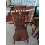 Two Victorian Kitchen chairs