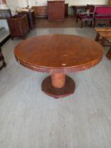 """An Art Deco circular dining Table 48"""" dia x 31"""" high"""