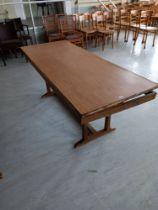 "A modern side table 72""x 29"" x 29"" high A/F"