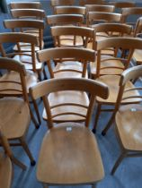 Six Beech Chairs