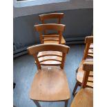 Three Beech Chairs