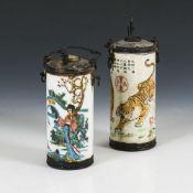 2 zylindrische Opiumpfeifen