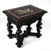 Neobarock-Tisch mit Pietra-Dura-Platte
