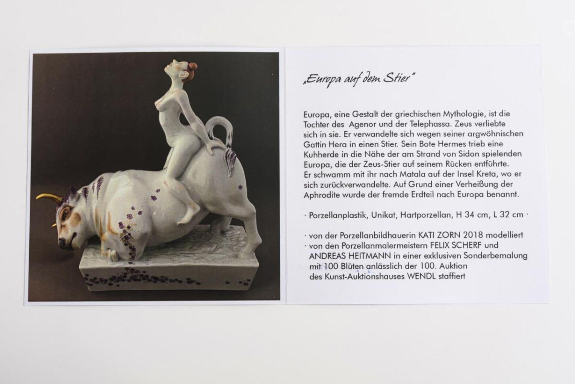 """""""Europa auf dem Stier"""" mit 100 Blüten - Image 11 of 14"""