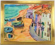 Elisabeth Balwé-Staimmer (1896, Straubing - 1973, Traunstein) - Spanish Houses on the Beach