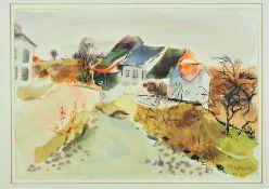Margret Hofheinz-Döring (1910, Mainz - 1994, Bad Boll) - Landscape near Altheim, 1965