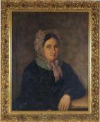 Jakob Ginzel (1792-1862, Reichenberg) - Biedermeier portrait of a lady in a frame,1860