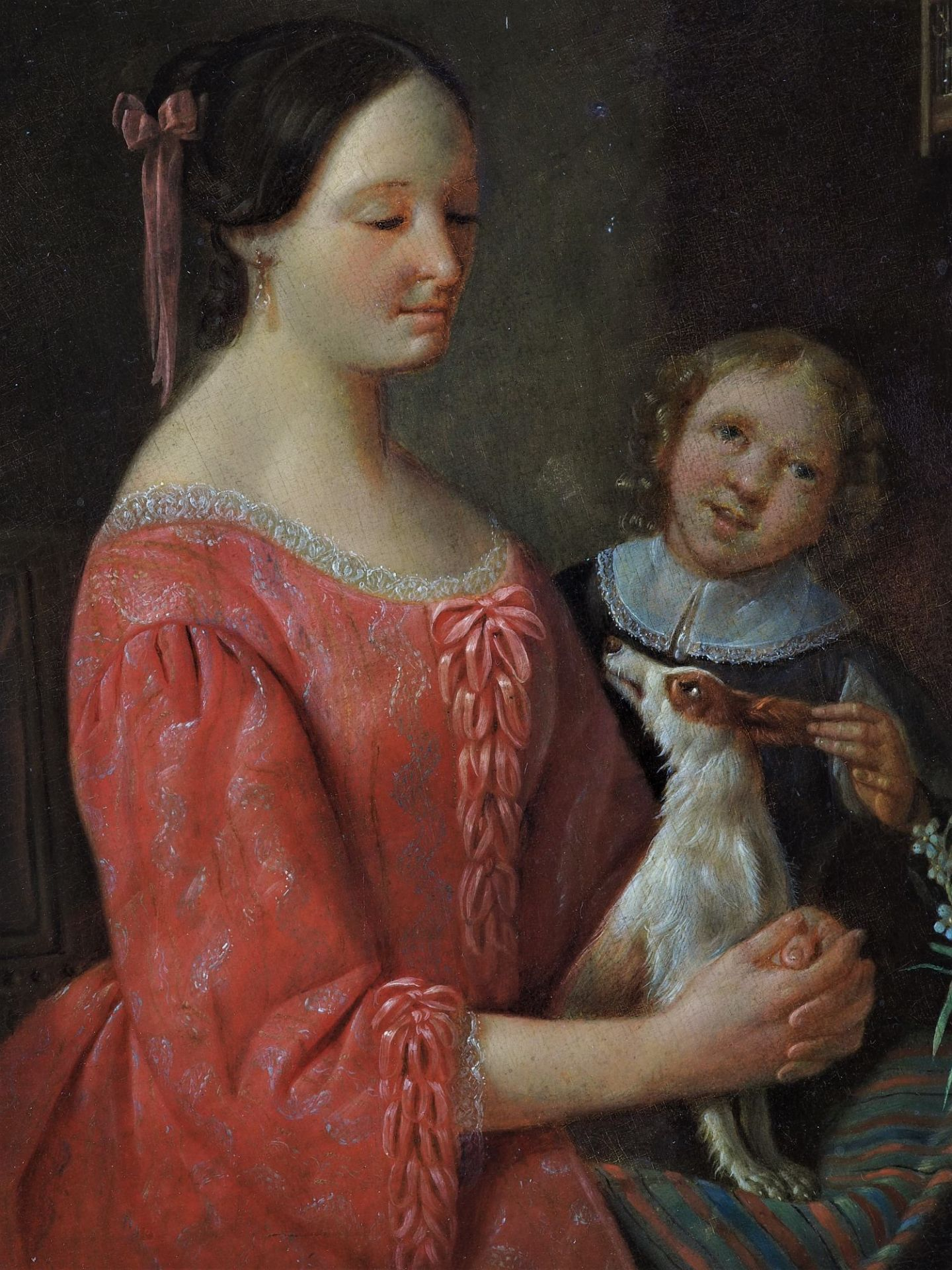 Christian Friedrich Fues (1772, Tübingen - 1836, Nuremberg) - Portrait of a mother with child and d - Image 3 of 5