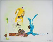 "Surrealistic drawing - signed. ""Mario Zanardi"""