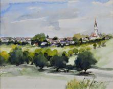 Walter Werdich - watercolor Holzschwang