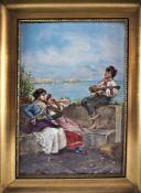 Marantonio Filippo (1863-1937, Naples) - Genre scene by the sea