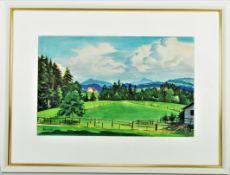 Max Unold (1885, Memmingen - 1964, Munich) - Allgäu landscape