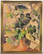 Waldemar Kufner (1940, Bad Reichenhall - 2016, Übersee am Chiemsee) - Still life with leaves.