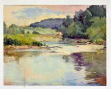 Paul Dörr (1892-1965) - Watercolor Neckar near Zell-Altbach