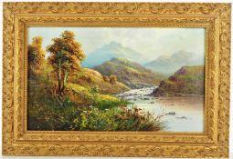 Frank Hider (1861-1933, England) - River landscape