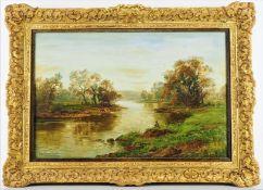 Tom Seymour (1844 - 1904, England) - River landscape