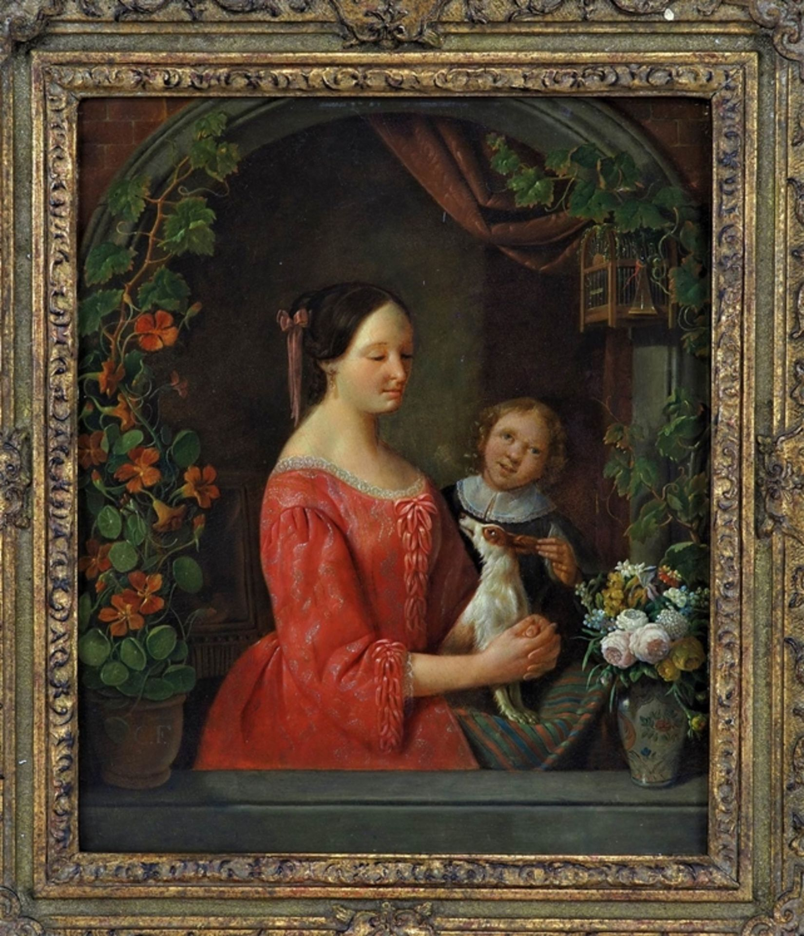Christian Friedrich Fues (1772, Tübingen - 1836, Nuremberg) - Portrait of a mother with child and d - Image 2 of 5