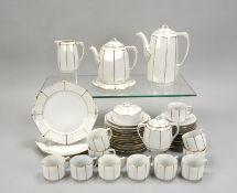 Weimar Porzellan (Art déco), umfangreiches Kaffeeporzellan, für 12 Personen, umfassend: