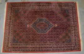 Indo-Bidjar, ringsum komplett, hochflorig; Maße 355 x 248 cm