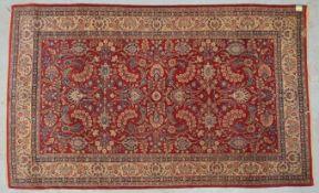 Hamadan-Sherkat, alt, Flor in gutem altersgemäßem Zustand; Maße 230 x 140 cm (Schma