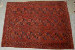 Afghanischer Bashir, antik, warme Farbgebung; Ma&e 400 x 295 cm
