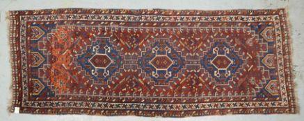Orientgalerie (Südwestpersien), älter; Maße 315 x 122 cm (mit leichten Gebrauchsspur