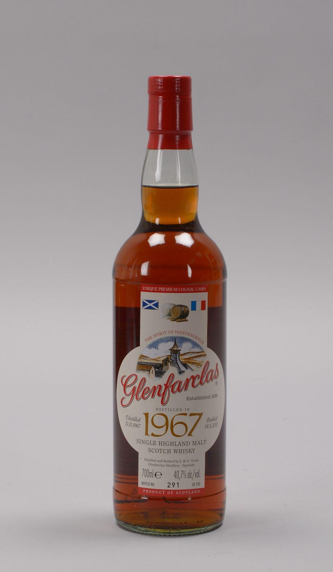 Sammlerwhisky: 'Glenfarclas Single Highland Malt Scotch Whisky', 'Distilled 17.11.196