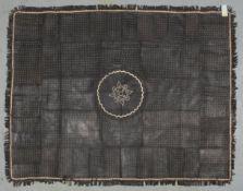 Lederteppich (Afrika), genäht, Patchwork in verschiedenen Farben/Musterungen; Maße 215 x