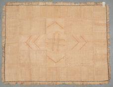 Lederteppich (Afrika), genäht, Patchwork in verschiedenen Farben/Musterungen; Maße 225 x
