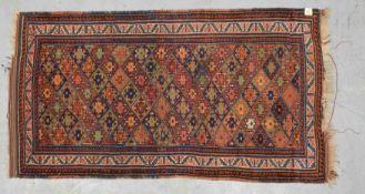 Orientteppich (Südwest-Persien), durchgemustert mit Sternen im Rautenmuster; Maße 208 x 1